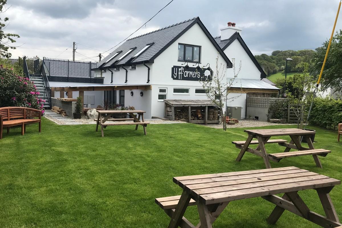 Exterior of YFFarmers, Restaurants near me, Aberystwyth